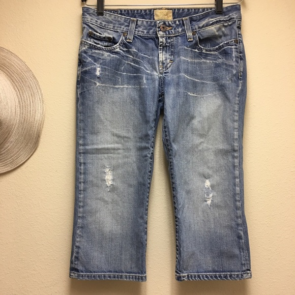 BKE Denim - BKE Denim Cropped Sz 30 Below Knee Jeans Distress